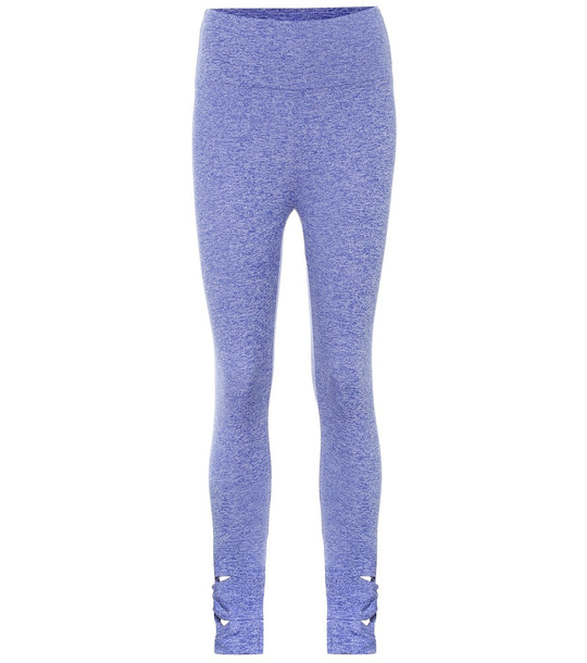 Lanston Sport Naked Loop Side leggings in blue