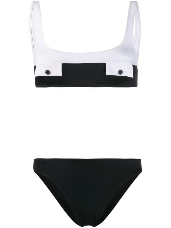 Sian Swimwear Nicole two-tone bikini in black