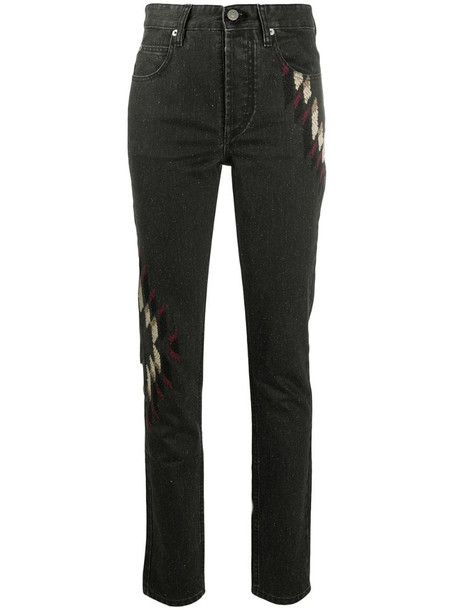 Isabel Marant Étoile embroidered skinny jeans in grey