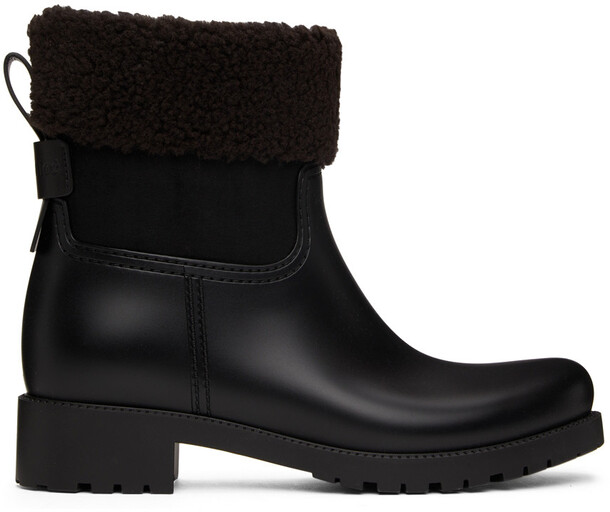See by Chloé See by Chloé Rubber Jannet Ankle Boots in black