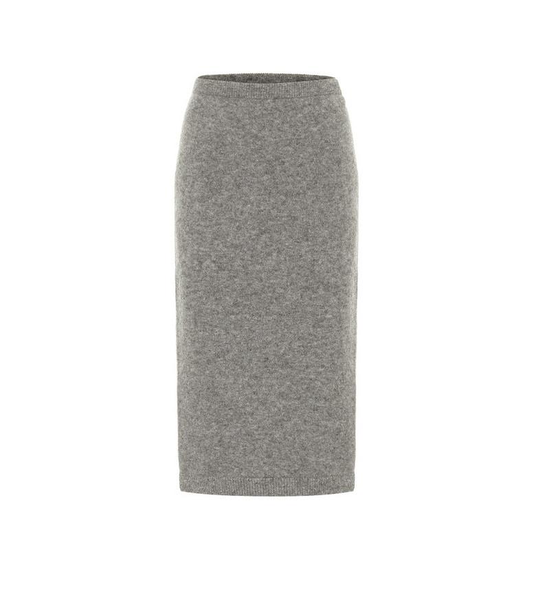 Dorothee Schumacher Soft Flash alpaca-blend knit midi skirt in grey
