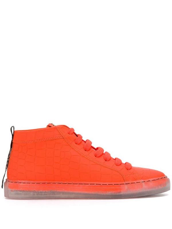 Hide&Jack clear sole high-top sneakers in orange