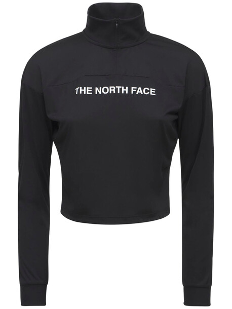 THE NORTH FACE Logo Stretch Tech T-shirt in black