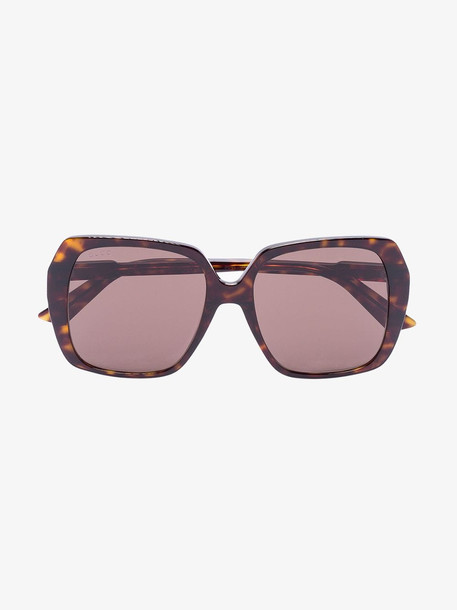 Gucci Eyewear brown tortoiseshell square sunglasses