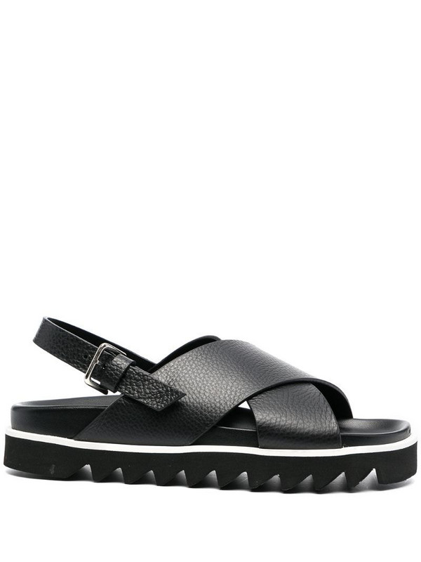P.A.R.O.S.H. crossover strap sandals in black