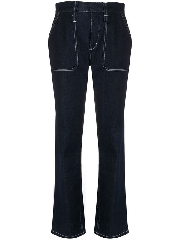 Chloé contrast stitching bootcut jeans in blue