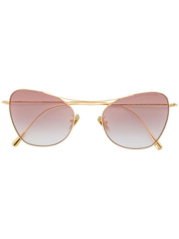 Cutler & Gross Cat-eye Sunglasses in gold