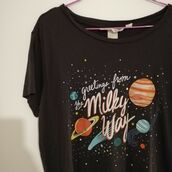 top,graphic tee,milky way,astrology,astronomy,space,galaxy print