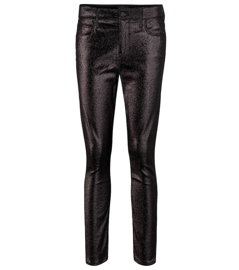 RtA Madrid metallic mid-rise skinny jeans in black