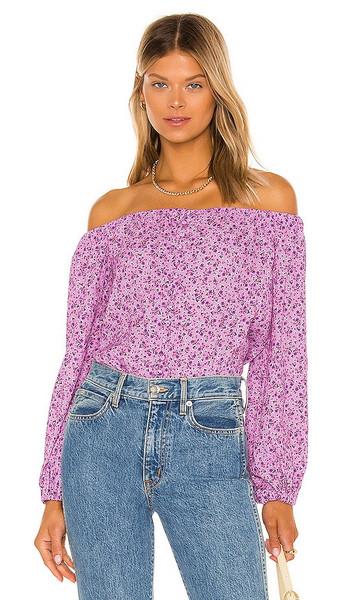 AFRM x REVOLVE Nessa Bodysuit in Lavender in lilac