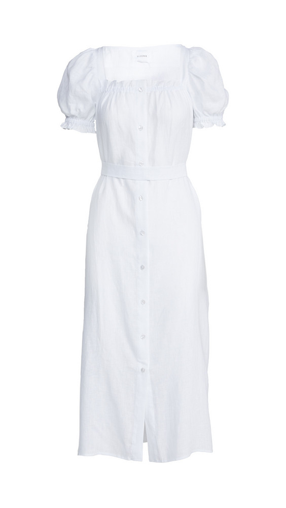 Sleeper Brigitte Maxi Dress in white