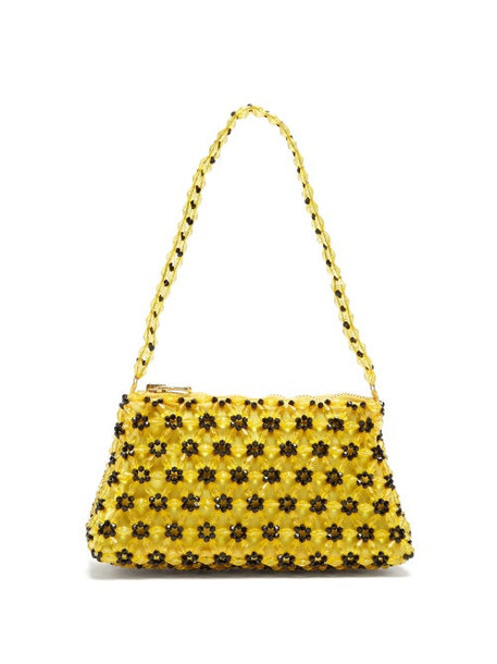 Shrimps - Dawson Floral-beaded Bag - Womens - Yellow Multi