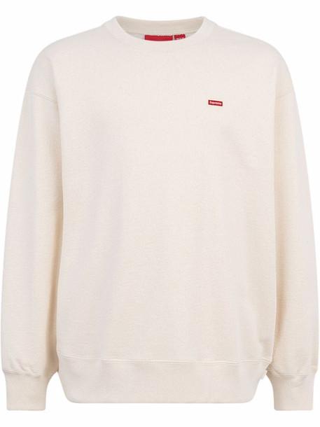 Supreme small box logo crewneck sweatshirt - Neutrals