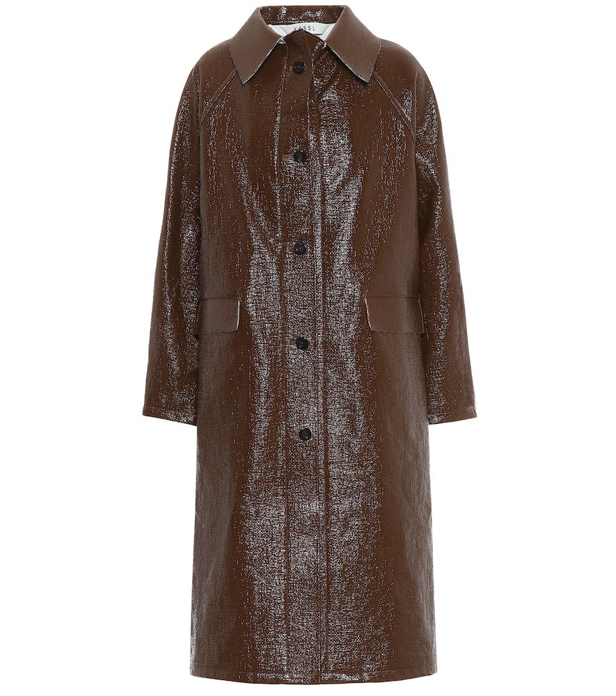 KASSL Editions Vinyl coat in brown