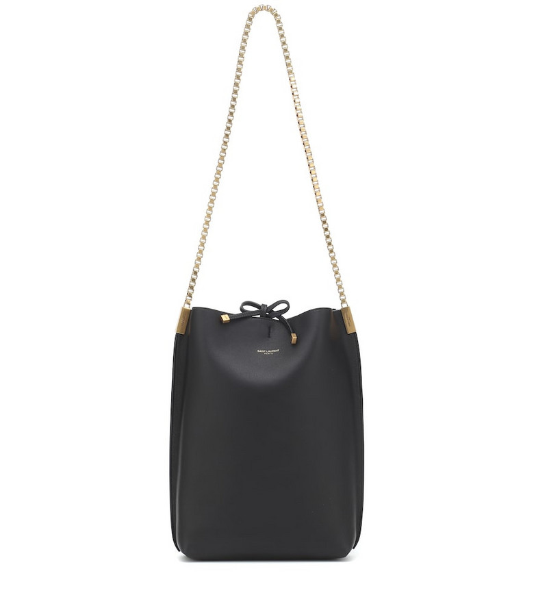Saint Laurent Suzanne Small leather shoulder bag in black