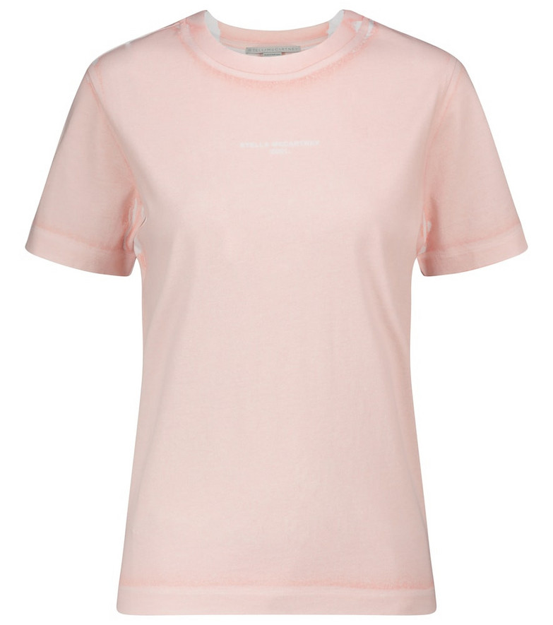 Stella McCartney Logo cotton jersey T-shirt in pink