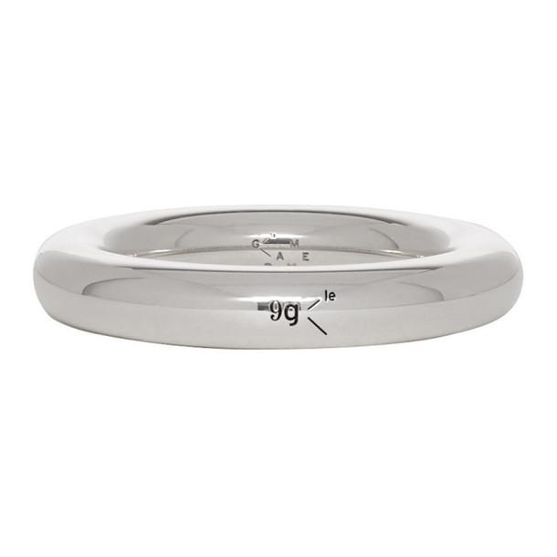 Le Gramme Silver Polished 'Le 9 Grammes' Bangle Ring