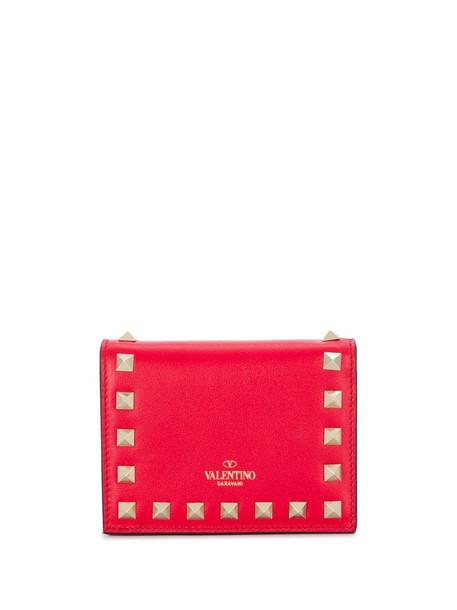 Valentino Garavani Rockstud purse in red