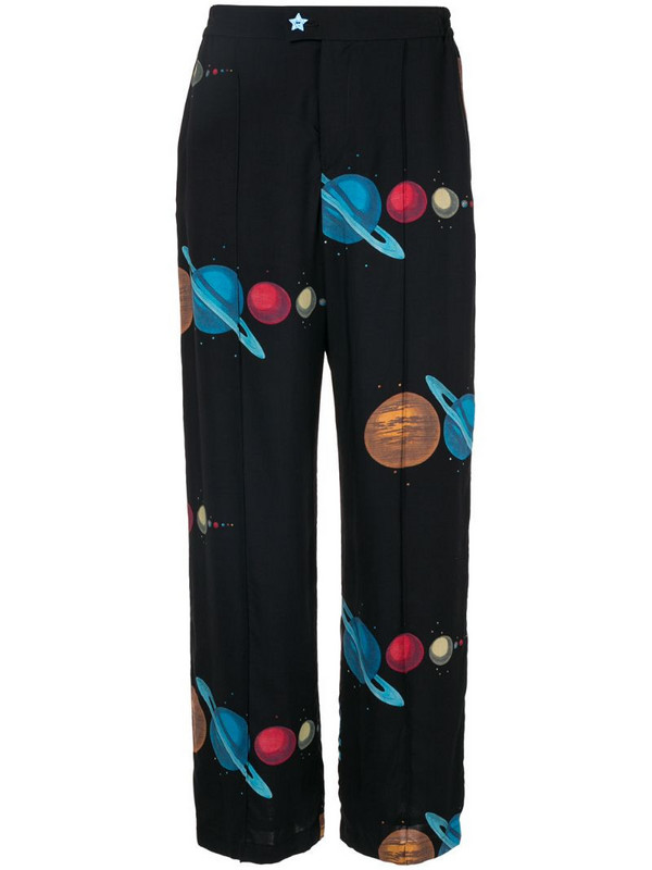 Undercover space print trousers in black