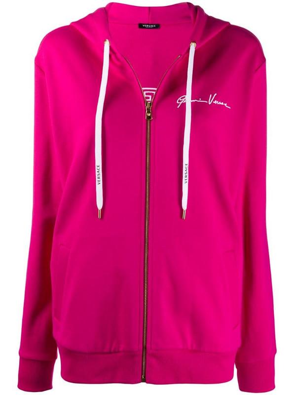 Versace Gianni signature hoodie in pink