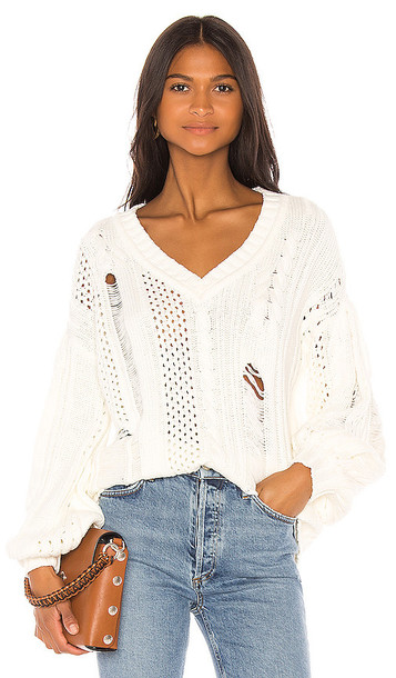House of Harlow 1960 X REVOLVE Marcella Sweater in White