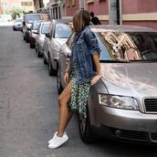 ms treinta,blogger,jacket,jeans,skirt,shoes,bag