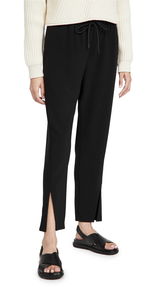 Theory Slit Pull On Pants in black