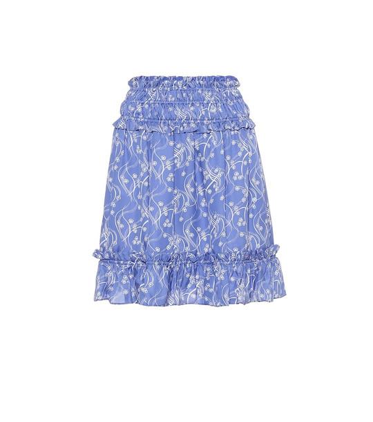 Kenzo Printed miniskirt in blue