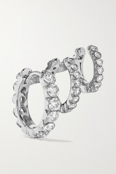 Maria Tash - Eternity 18-karat White Gold Diamond Hoop Earring