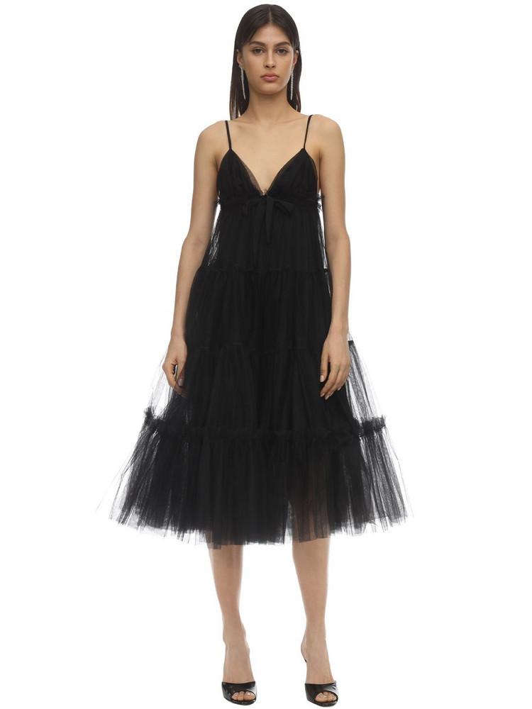 BROGNANO Tulle Midi Dress in black