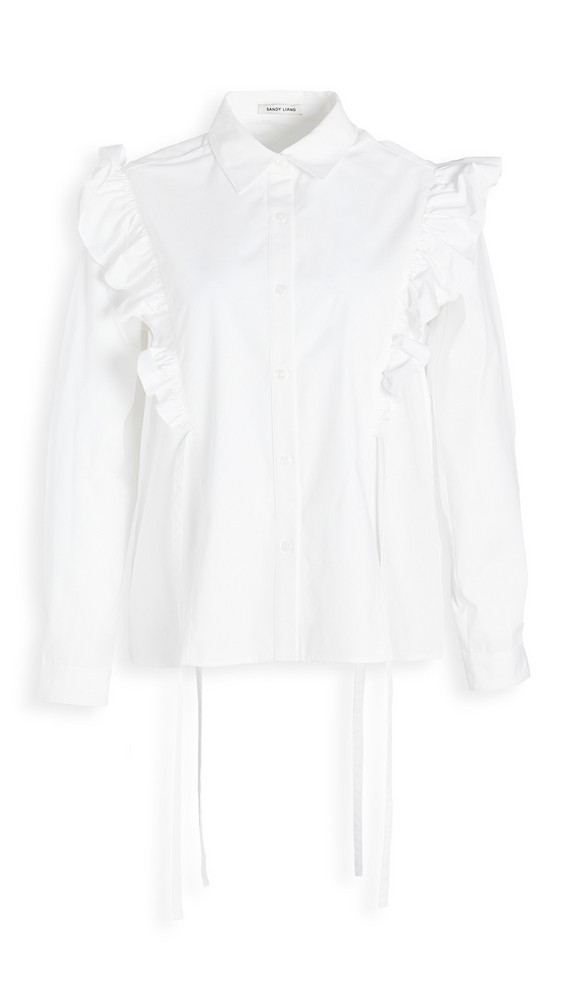 Sandy Liang Clip Top in white