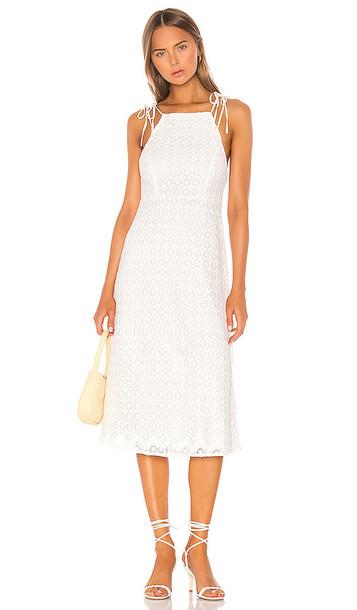 Camila Coelho Solaris Midi Dress in White