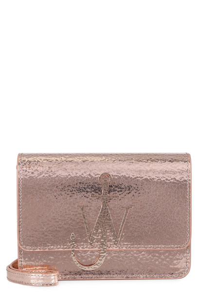 J.W. Anderson Anchor Logo Metallic Leather Shoulder Bag