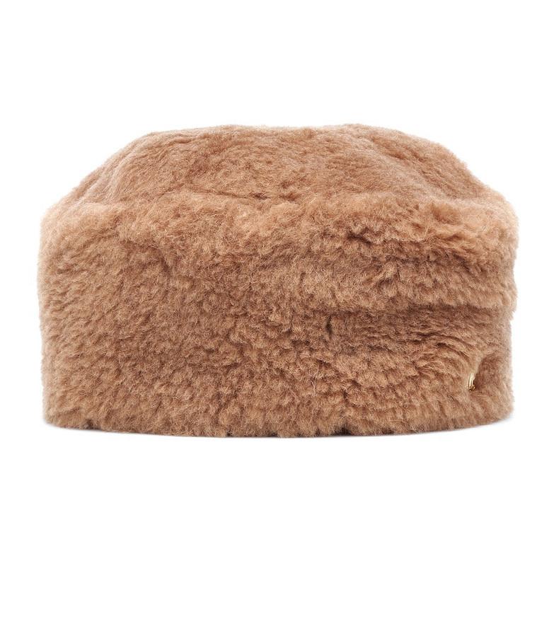 Max Mara Colby camel hair hat in brown