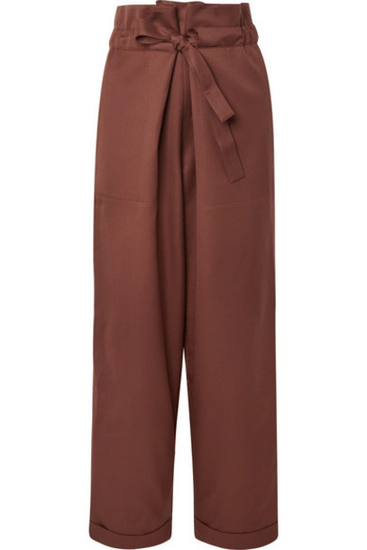 LE 17 SEPTEMBRE - Wool-twill Tapered Pants - Chocolate