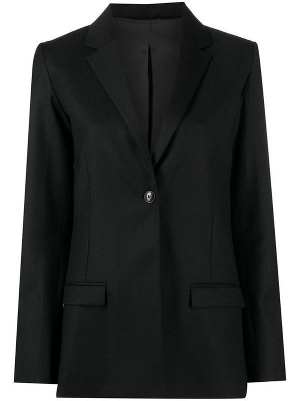 Totême single-breasted notch lapel blazer in black