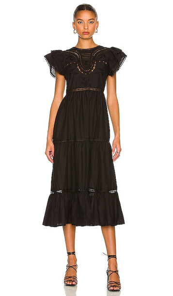 Tularosa Claudette Midi Dress in Black