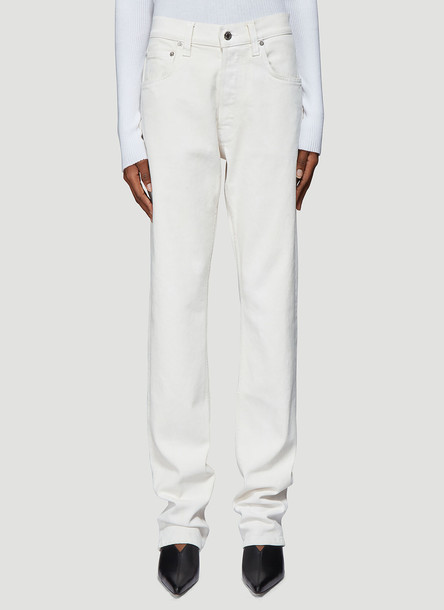 Helmut Lang Straight Leg Jeans in White size 27