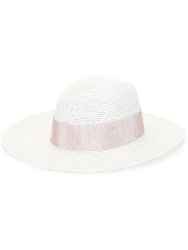 Eugenia Kim ribbon-detail sun hat in white