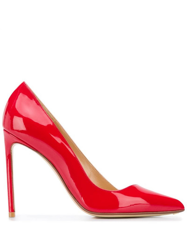 Francesco Russo 110mm pointed-toe pumps in red