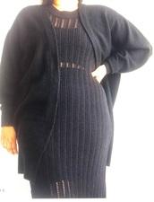 dress,black,plus size,h and m,curvy