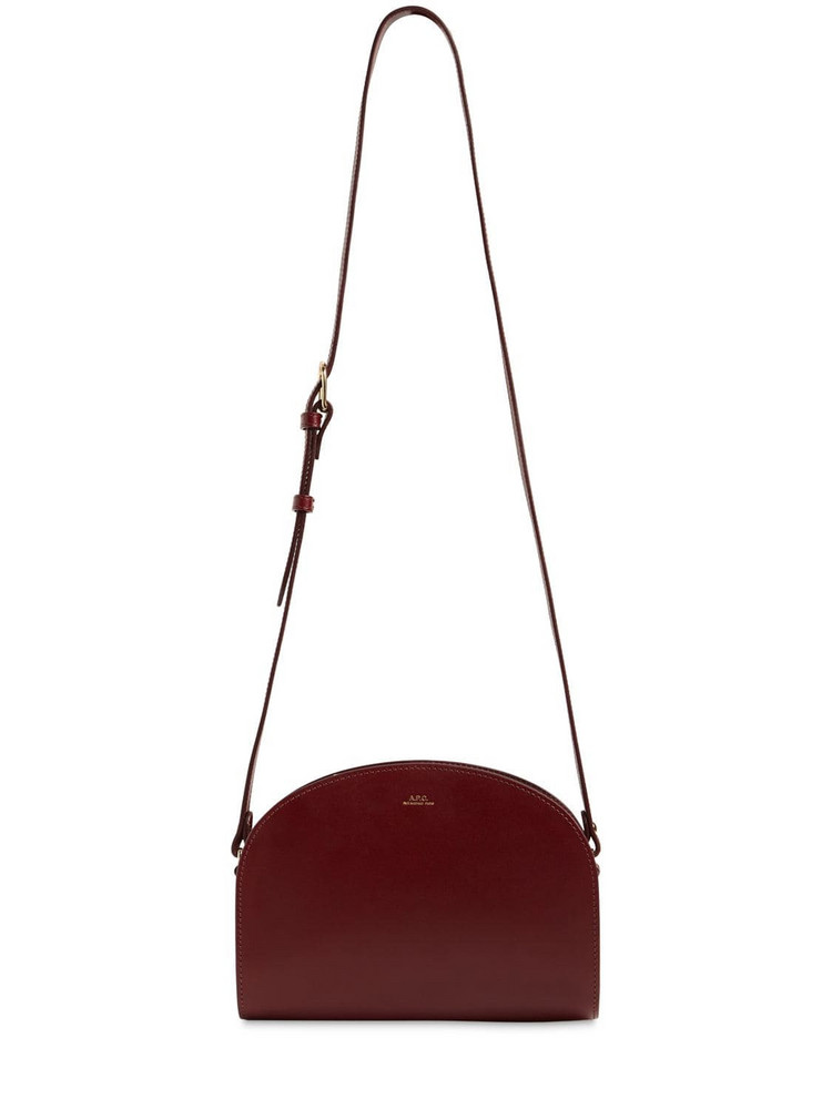A.P.C. Demi Lune Smooth Leather Bag