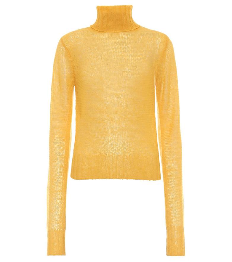 Victoria Beckham Alpaca-blend turtleneck sweater in yellow