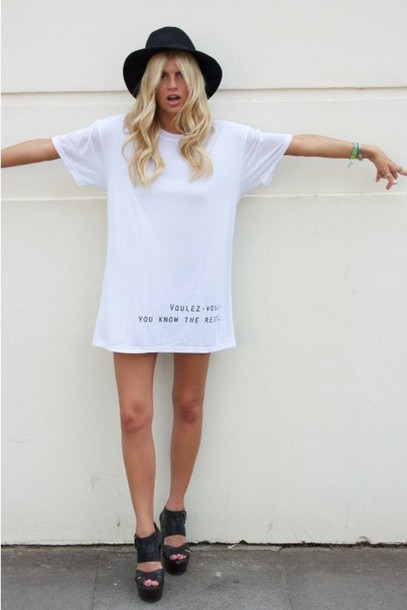 dress t-shirt dress white dress knee length dress