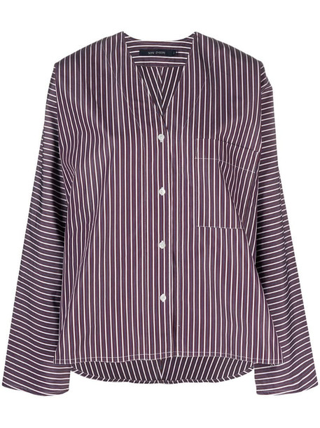 Sofie D'hoore V-neck striped shirt in purple