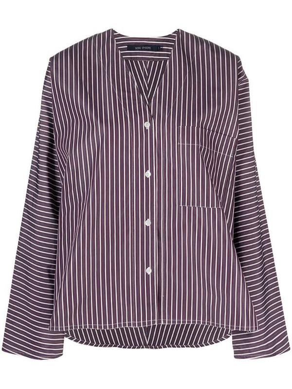 Sofie D'hoore V-neck striped shirt in purple