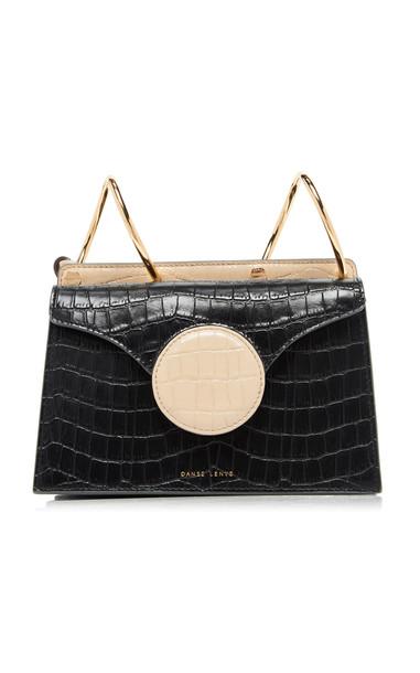 Danse Lente Phoebe Mini Embossed Leather Bag in black