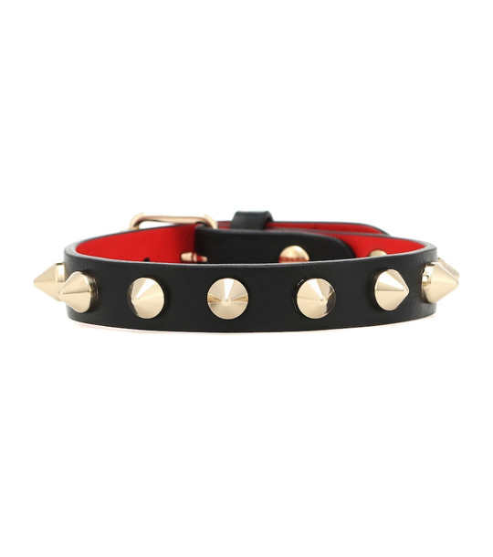 Christian Louboutin Loubilink leather bracelet in black
