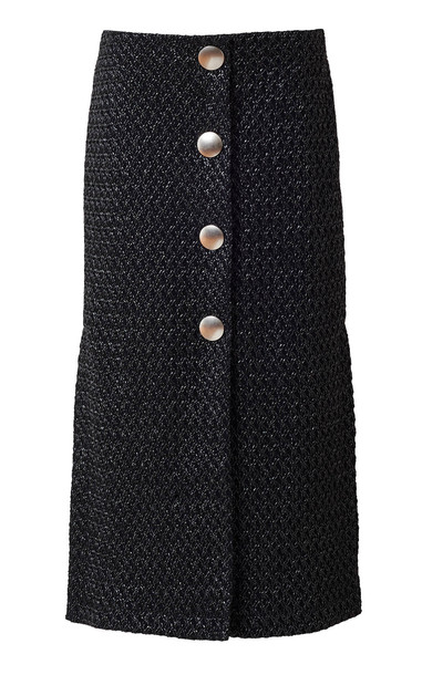 Rodebjer Leilani Tweed Button Up Midi Skirt Size: S