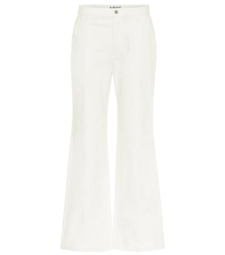 Loewe High-rise wide-leg jeans in white